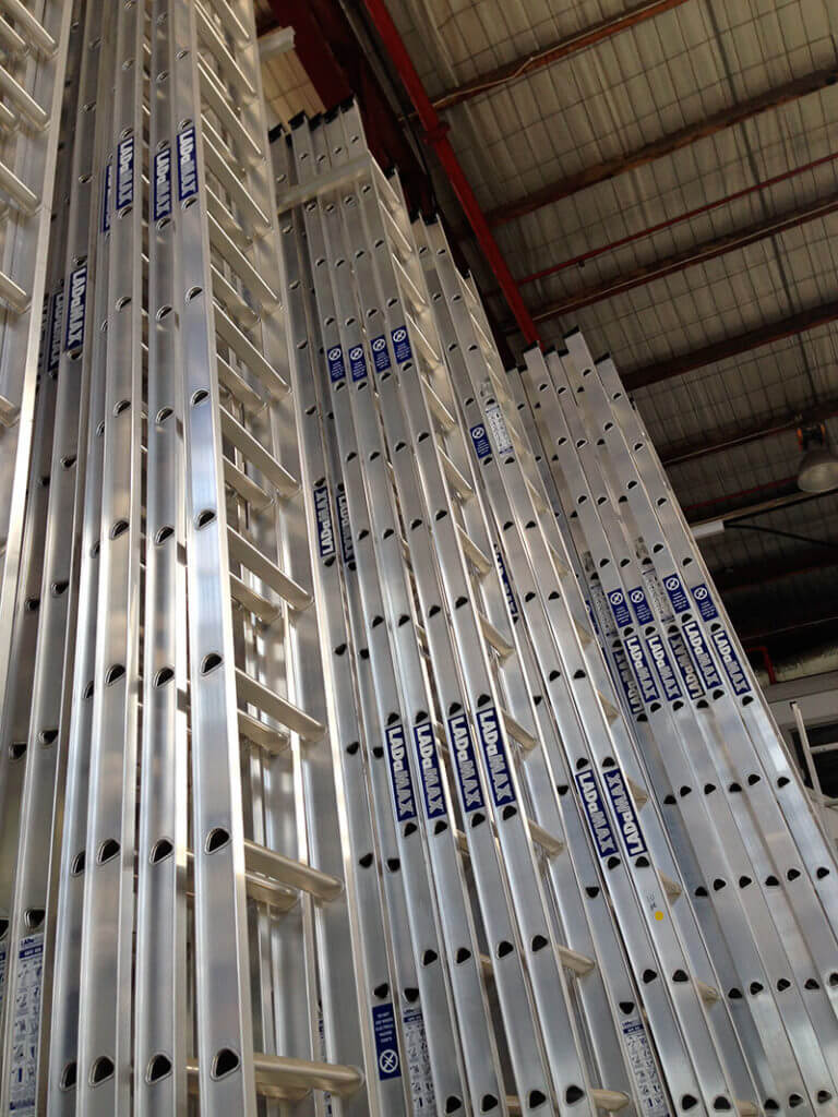 Aluminuim Ladders available in many sizes commercial quality all rated to 150kg