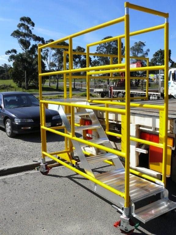 Truckdek chariot - safety scaffolding for Trucks, fall prevention from trucks - Easy Reach Scaffolding Melbourne