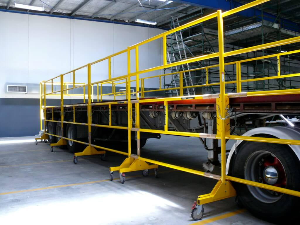 Truck Screens and Truck Loading Platforms for Truck fall protection - Easy Reach Scaffolding Melbourne