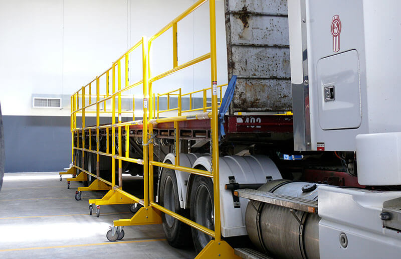 Truckdeck - Truck Loading Platforms and Truck fall protection - Easy Reach Scaffolding Melbourne