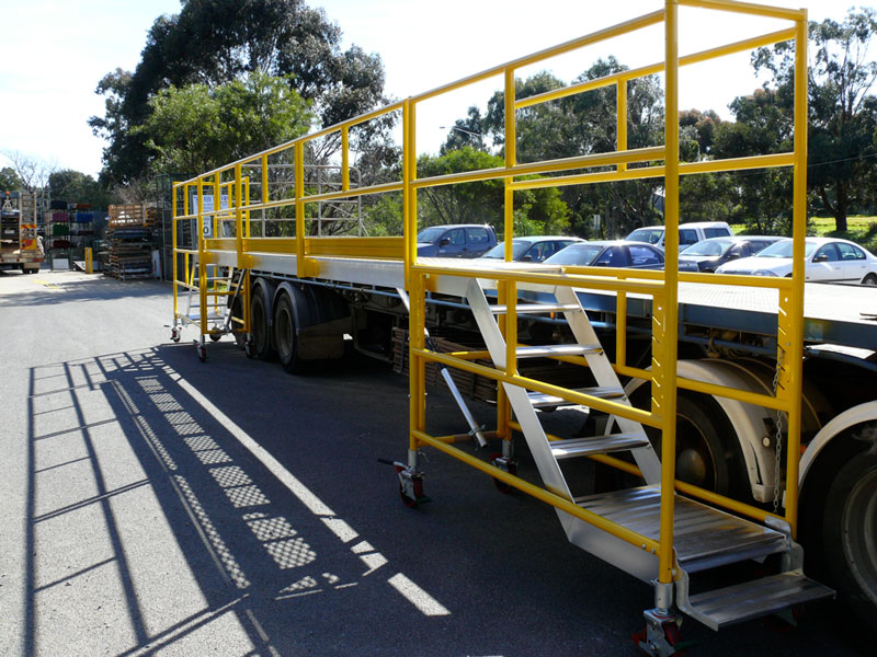 Truck loading platform - Easy Reach Scaffolding Melbourne